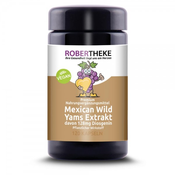 Mexican Wild Yams Extrakt 640mg, davon 128mg Diosgenin | Robertheke