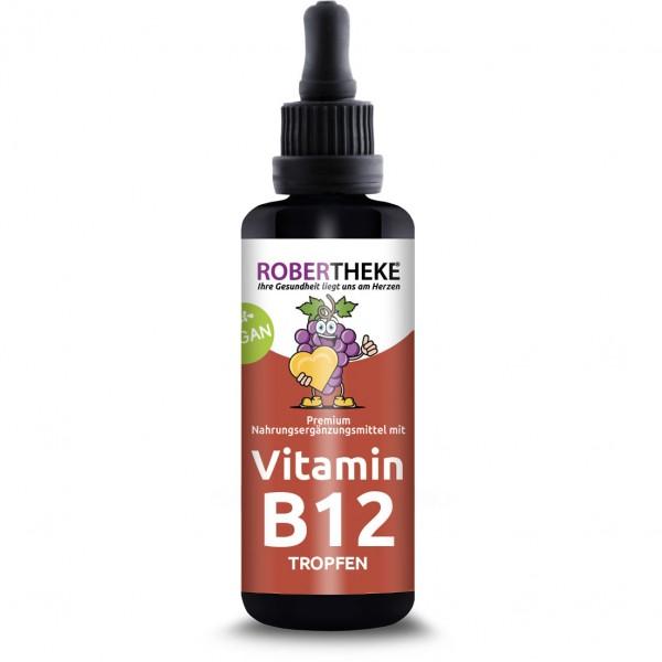 Vitamin B12 Tropfen 1000 μg Vegan | 50ml B 12 im Miron Glas