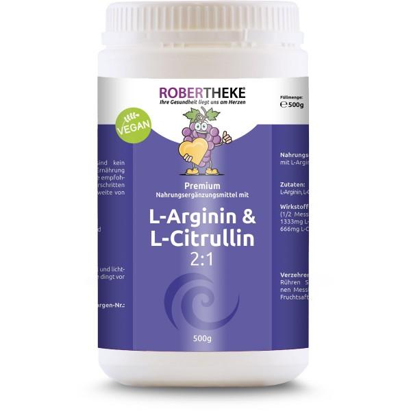 L-Arginin & L-Citrullin 2:1 Vegan | 500g Pulver