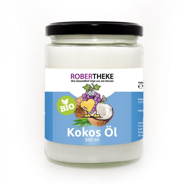 Bio Kokosöl (Virgin coconut oil) 500 ml Kaltgepresst