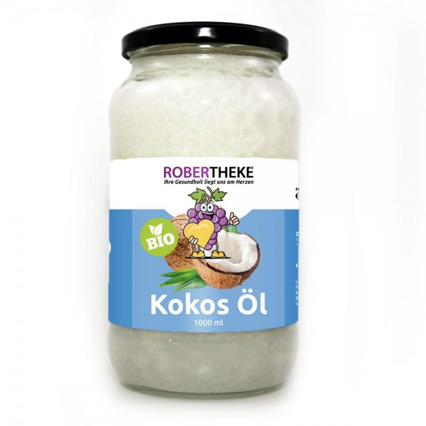Bio Kokosöl (Virgin coconut oil) 1000 ml Kaltgepresst